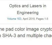یک سیستم رمسنگاری رنگی یک-زمانی بر پایه SHA-3و سیستم های مختلف آشوب